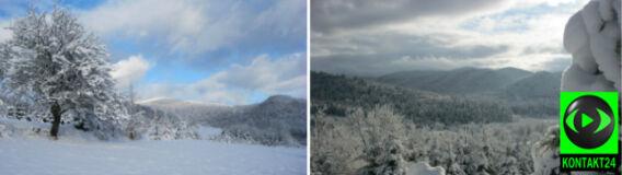 """""""Zimowa stolica Bieszczad"""" biała od śniegu. Na Pomorzu też padało"""
