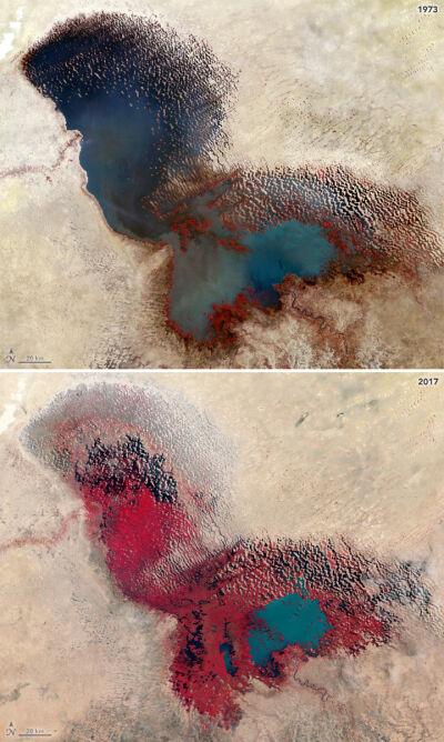 Jezioro Chad wysycha (NASA JSC)