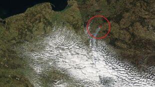 Pożar w Biebrzańskim Parku Narodowym widać z kosmosu
