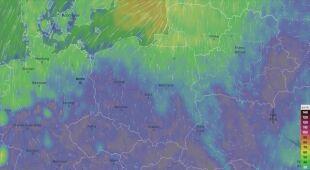 Prognoza porywów wiatru w weekend (Ventusky.com)