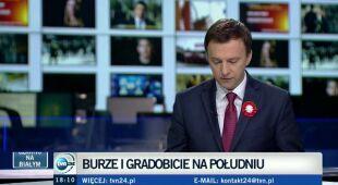 Paweł Frątczak, rzecznik straży pożarnej, o skutkach burz (TVN24)