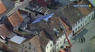 Zniszczenia w Bisztynku (TVN24)